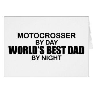 Motocrosser - el mejor papá del mundo por noche tarjeta de felicitación