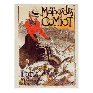 Motocycles Comiot - postal del vintage de París