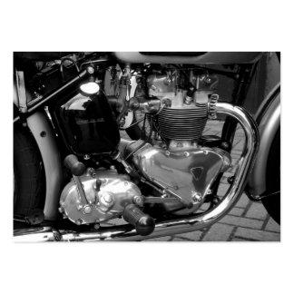 Motor clásico de la moto, mini foto tarjetas de visita grandes