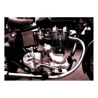 Motor clásico de la moto, mini tarjeta de la foto tarjetas de negocios