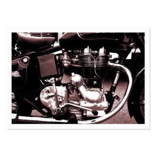 Motor clásico de la moto, mini tarjeta de la foto tarjetas de visita grandes