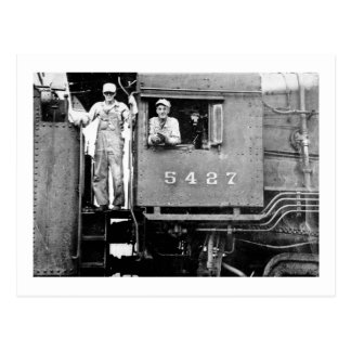 Motor de vapor locomotor del vintage del motor postal