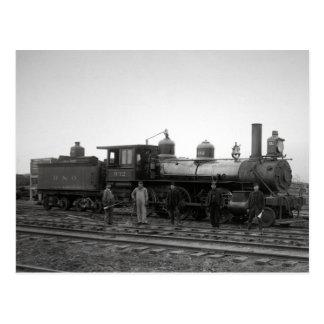 Motor del ferrocarril de Baltimore y de Ohio # 932 Postal