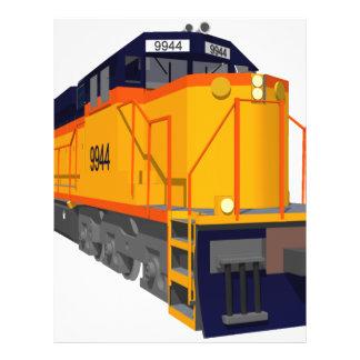 Motor del tren: Esquema de color clásico: Folleto 21,6 X 28 Cm