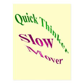 Motor lento del pensador rápido postales