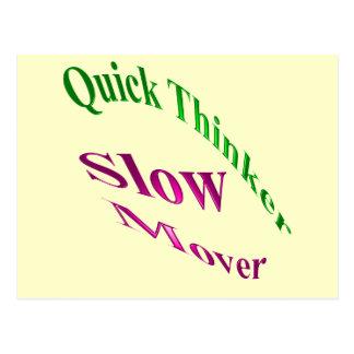 Motor lento del pensador rápido tarjetas postales