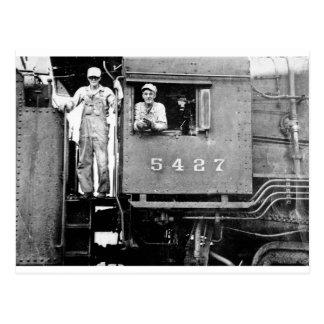 Motor locomotor del tren del vintage del motor postal