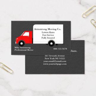 Motor móvil del camión de la compañía móvil tarjeta de visita