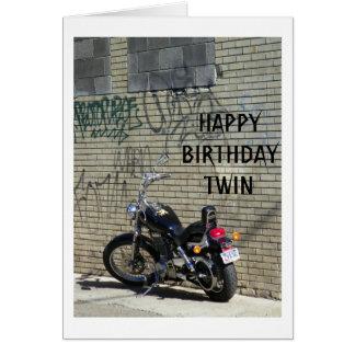 "MOTORCYLE/GRAFFITI=BIRTHDAY PARA SU ""GEMELO "" TARJETÓN"