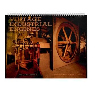 Motores industriales del vintage del calendario de