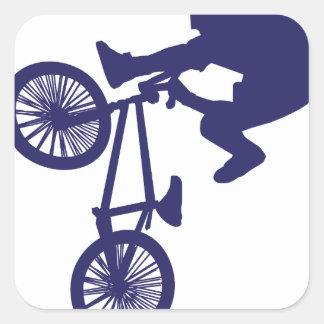 Motorista de BMX Pegatina Cuadrada