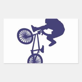 Motorista de BMX Pegatina Rectangular