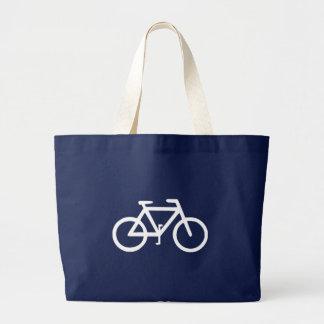 Motorista del ciclista de la bicicleta de la bici bolso de tela gigante