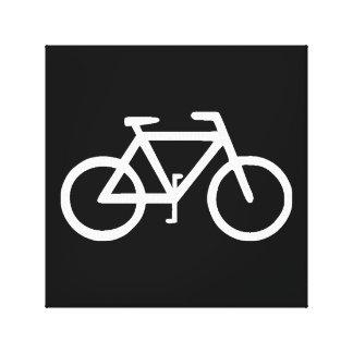 Motorista del ciclista de la bicicleta de la bici impresión en lienzo