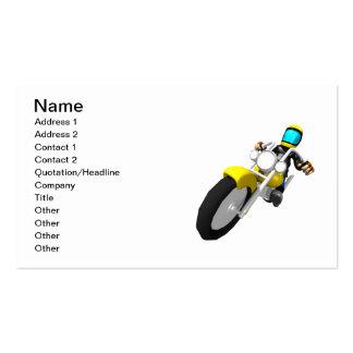 Motorista del motocrós tarjetas de visita