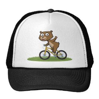 Motorista del oso de peluche gorras