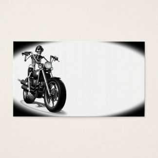 Motorista esquelético tarjeta de visita