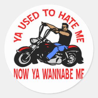 Motorista que usted ahora me odiaba usted imitador pegatinas