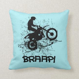 Motoristas de la suciedad del motocrós de Braap Cojín Decorativo