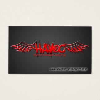 Motorsports del estrago (nanómetro) tarjeta de negocios