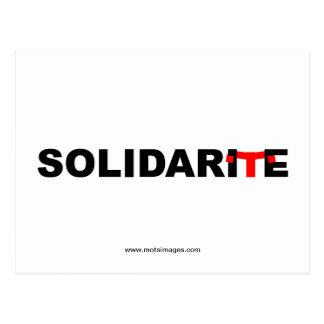 © motsimages: Solidaridad Tarjeta Postal