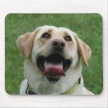 Mousepad amarillo de Labrador Tapetes De Ratones