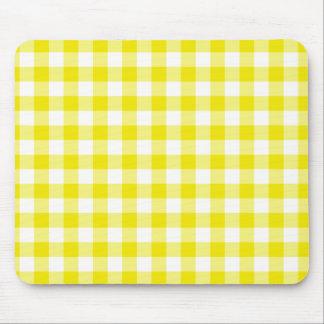 Mousepad amarillo limón, modelo de la guinga del c tapete de ratón