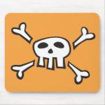 Mousepad anaranjado con el dibujo animado del crán tapetes de ratones