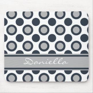 Mousepad blanco y negro personalizado:: Lunares