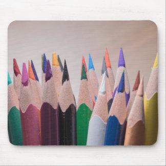 Mousepad coloreado de los lápices alfombrilla de ratón