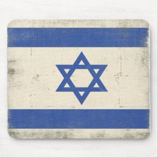 Mousepad con la bandera apenada fresca de Israel
