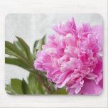 Mousepad de encargo floral de la flor rosada hermo tapete de ratones