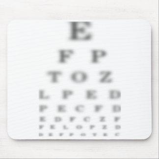 Mousepad de la carta de prueba del ojo