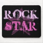 Mousepad de la estrella del rock alfombrillas de ratón