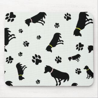 mousepad de los perros y de las huellas alfombrilla de ratón