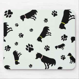 mousepad de los perros y de las huellas