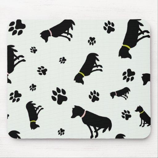 mousepad de los perros y de las huellas alfombrillas de ratón