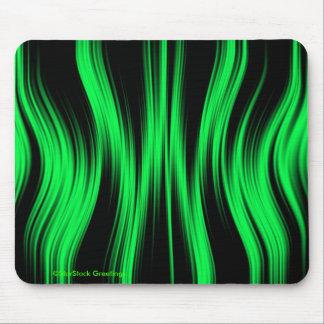 Mousepad de neón negro verde