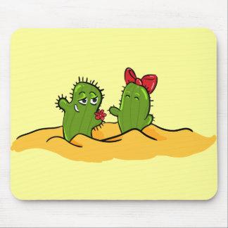 mousepad del amor de la flor del cactus