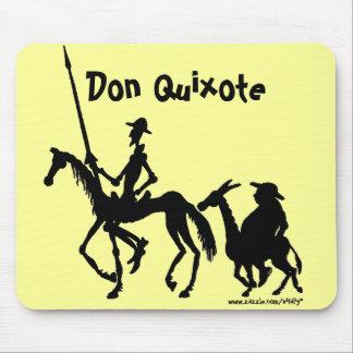 Mousepad del arte gráfico del Don Quijote y de San Alfombrilla De Ratón