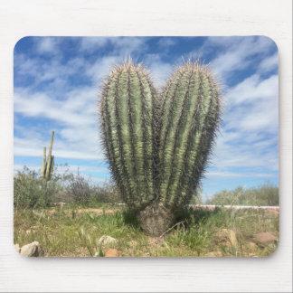 mousepad del saguaro del amor alfombrilla de ratón
