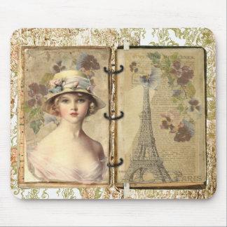 Mousepad del vintage de París Alfombrilla De Ratón