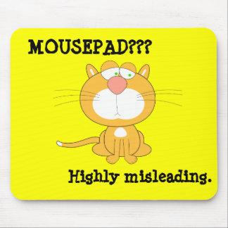 Mousepad divertido con el gato triste