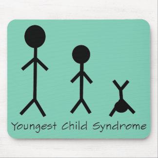 Mousepad divertido del síndrome del niño más joven