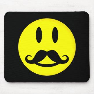 Mousepad feliz del smiley del bigote