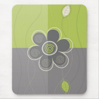 Mousepad floral abstracto