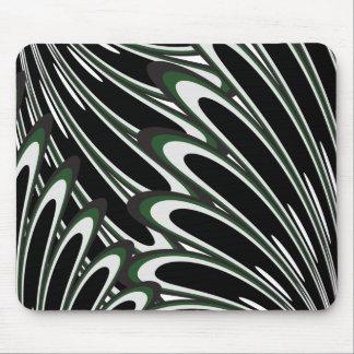 Mousepad floral verde del modelo del vector alfombrilla de ratón