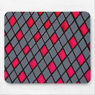 Mousepad geométrico rojo del modelo del diamante alfombrilla de ratón