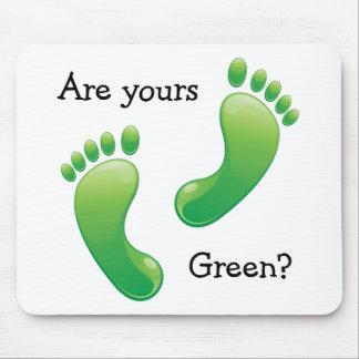 Mousepad: ¿Las huellas verdes - son los suyos verd Tapete De Raton