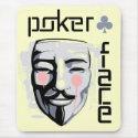 Alfombrilla de raton Poker Face Beige (V)